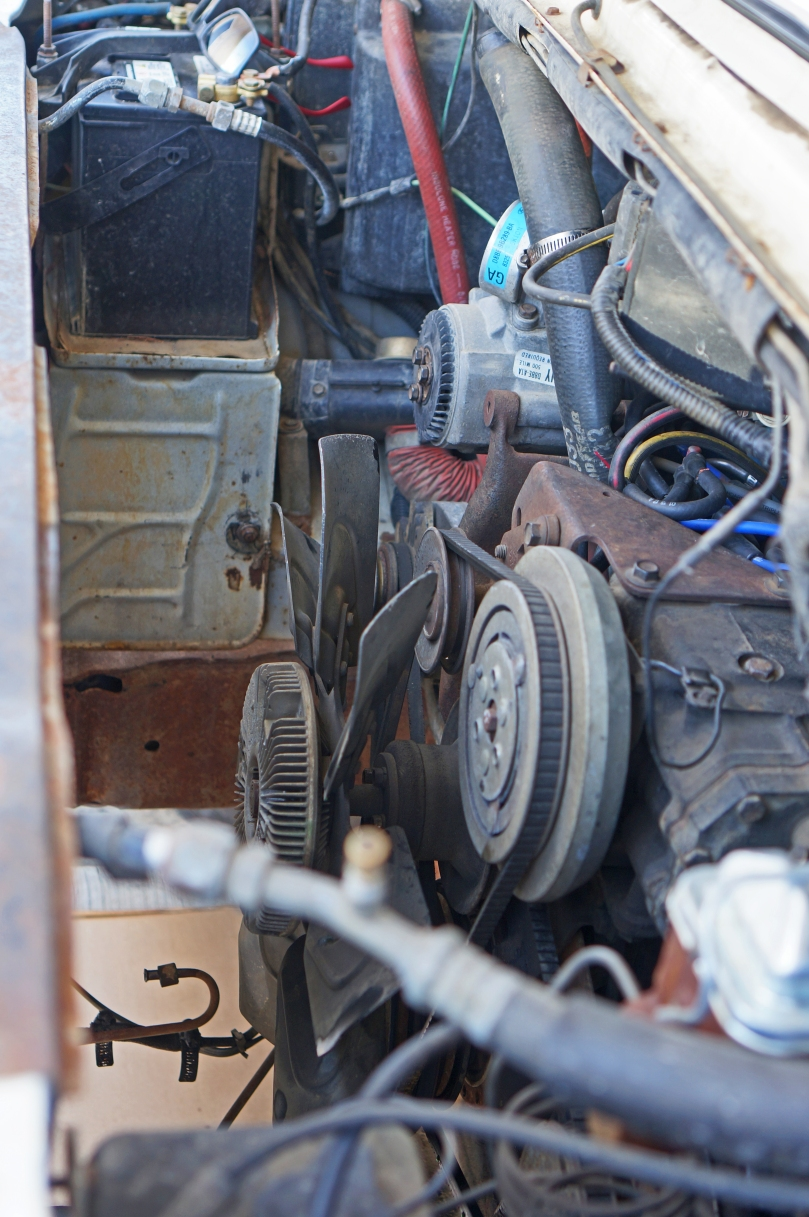 Vanlife Pt 9 Betsy 20 Live4therush Clutch Motor Wiring Unbolt Everything Attached To The Water Pump Power Steering Air Conditioning Bracket Idler Pulley Alternator And Fan